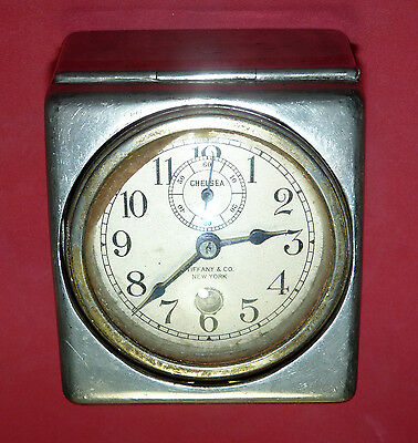 Antique Tiffany & Co NY Chelsea Ship Yacht Boat Nautical Clock Solid Brass Case