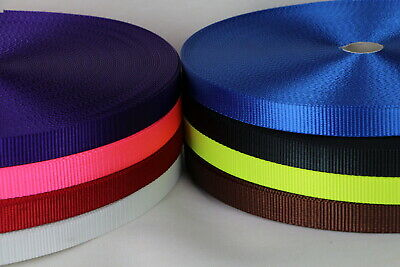 Polyester Webbing 50mts x 20mm Sewing Horse rugs, bags, tent, canvas, dog lead
