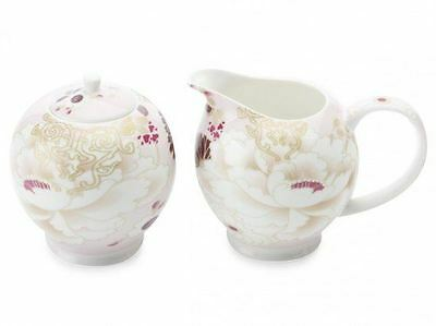 Fine Bone China Maxwell & Williams Kimono Sugar & Creamer White Gift Set Boxed