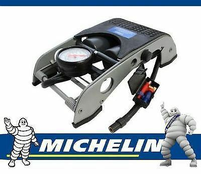 Michelin 12202 Double Barrel Piston Car Van Cycle Bike Tyre Inflator Foot Pump