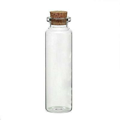 """10 Glass Mini Bottle approx 3"""" 7.9cm Bottles Shot hold approx 20ml Message Wish"""