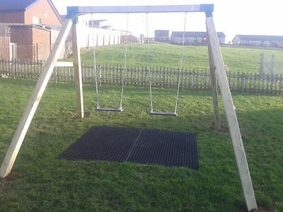 Commercial Double Wooden Swing Set. Pressure Treated, Guarantee, Climbing Frame.
