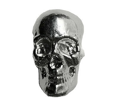 MPM 3D Hand Poured 3 oz .999 Silver USA Bullion Skull Bar With Serial Number
