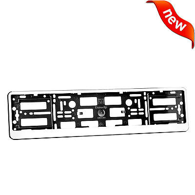 Matte White ABS PC Number Plate Holder Registration Surround for Any Car NEW!