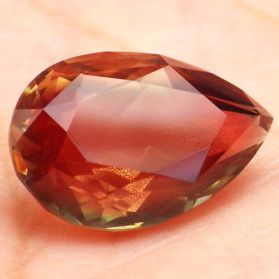 WATERMELON SCHILLER OREGON SUNSTONE 13.46Ct FLAWLESS-LARGE JEWELRY/TOP INVESTM.!