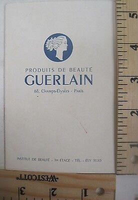 Vintage French Guerlain Beauty Products Catalog Booklet Cream Lotion & More