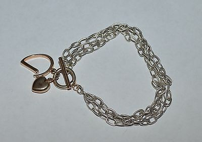 Small Hook And Clasp Bangle. ??? Ss W/ Yellow Gp 6in Alpha Epsilon Phi