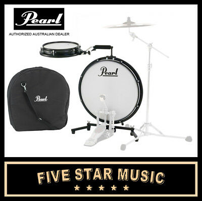Pearl Roadshow Fusion Plus 5 Piece Drum Kit JET BLACK with Stool, Cymbals - NEW