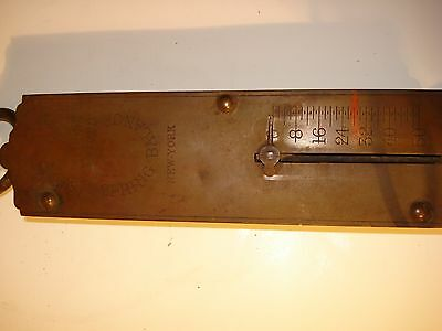Vintage Chatillons Improved Spring Balance Hanging Scale 50 Lb,made In New York