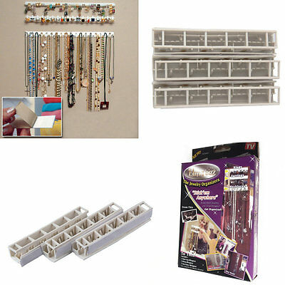 New Adhesive Wall Mount Jewelry Hooks Holder Storage Set Organizer Display S#
