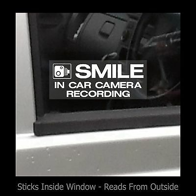 Smile - In car camera recording - Window Sticker / Sign - Security / CCTV