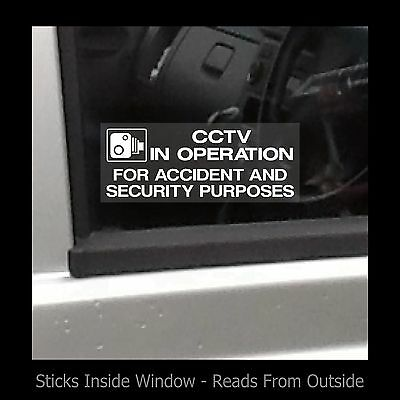 CCTV in operation for accidents - Window Sticker / Sign - Security / CCTV