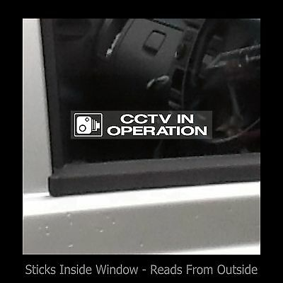 CCTV in operation - Window Sticker / Sign - Security - Safety - Theft