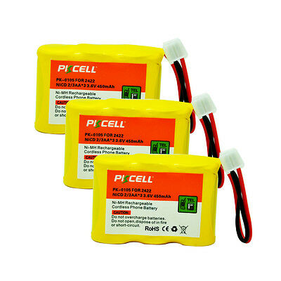 3 Cordless Phone Battery For AT&T Lucent 2422 2440 2447 2455 80-5074-00-00 BPT27