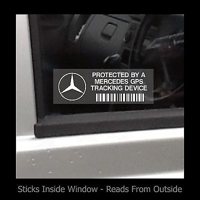 Protected by a Mercedes GPS Tracking - Window Sticker / Sign - Security, Safety