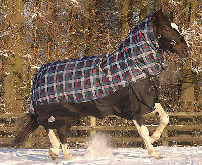 Masta Turnoutmasta 350g Fixed Neck Winter Heavyweight Horse Turnout Rug Blanket
