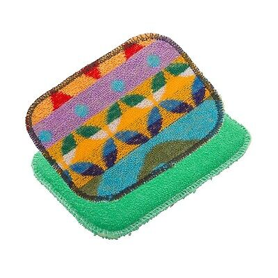 NEW EUROSCRUBBY SCRUBBY + SPONGE SET Euro Cleaning Cloth Non Scratch