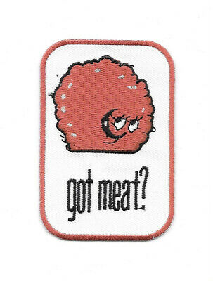 Aqua Teen Hunger Force Meatwad Got Meat? Embroidered Patch, NEW UNUSED