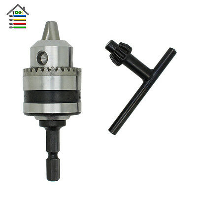 """Electric Drill Chuck Capacity 0.6-6mm Thread 3/8-24UNF 1/4""""Hex Shank Power Tools"""