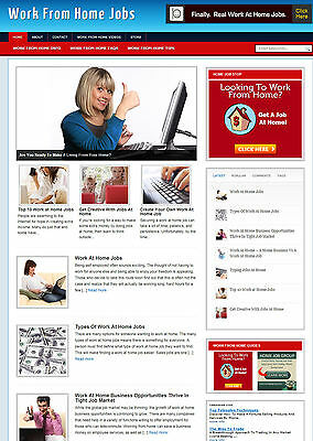 Work From Home Website With Affiliate Store - Free Domain - Installation