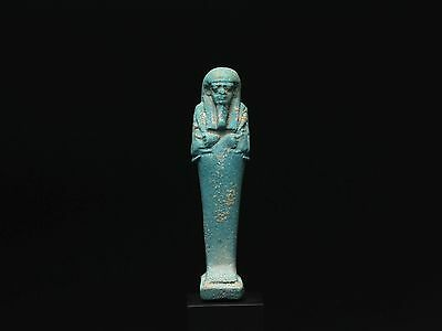 Ancient Egyptian Blue Frit Shabti