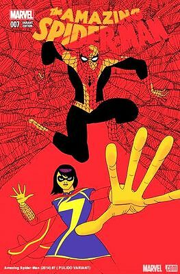 Amazing Spider-Man #7 (2014) 1St Printing  Eosv Scarce 1:25 Pulido Variant Cover