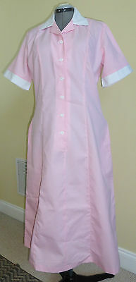 Cintas or UTY Pink White Maid Housekeeping Uniform Dress, Various Sizes, NWT