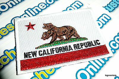 New California Republic Flag Patch with hook tactical backing Fall-Out
