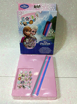 Disney Frozen Elsa E Anna Set 3 Braccialetti Bracelets With 18 Charms Originale