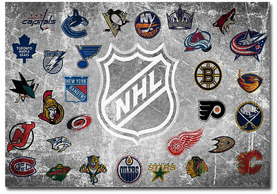 "NHL National Hockey League Logos Team Fridge Magnet Size 3.5"" x 2.5"""