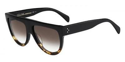 HOT NEW Authentic CELINE Shadow Ladies Black Havana Sunglasses CL 41026/S FU5 5I