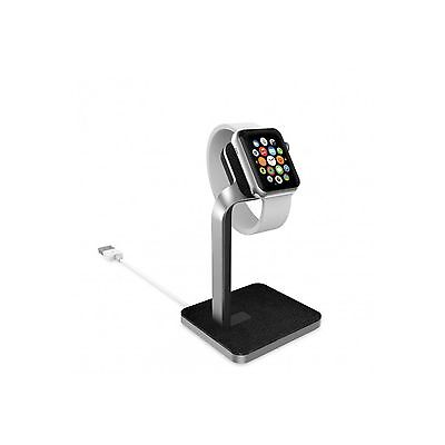 Mophie Smart Watch Mount Dock Stand Aluminium Leather Acent Apple Sport New 3224