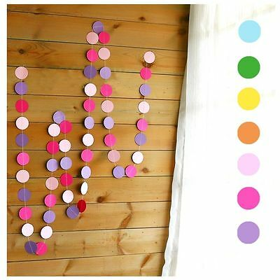 4M X Paper Garland Bunting Drop for Party Baby Shower Wedding