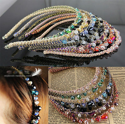 Hot Bead Crystal Headband Beautiful Womens Girls  Hair Head Band Accessories