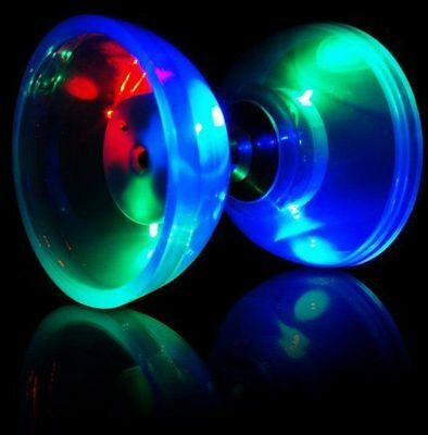 Kidoloop Electronic Diabolo Wooden Sticks With Flashing Light Including Battery