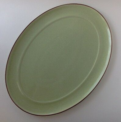 Denby England Apple Green Stoneware Oval Serving Platter