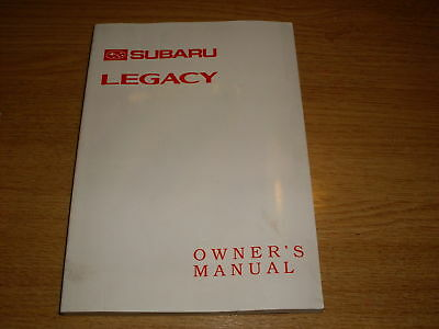 Legacy Owners Manual & handbook, 22C 96M, Genuine Subaru