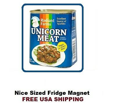 Funny Unicorn Meat Refrigerator Fridge Kitchen Magnet 385