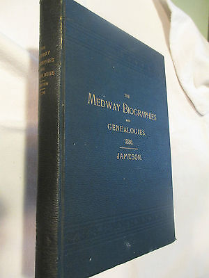 1886 Medway MA Town History Genealogy Signed bucknam cary gay shumway tyler new