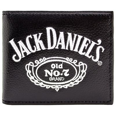 New Official Jack Daniels Tennessee Whiskey Black Coin & Card Bi-Fold Wallet