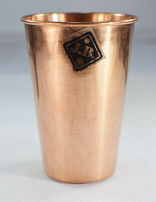 Handmade Ayurveda 1 Pcs pure copper Glass cup for Drinking Water / Lassi
