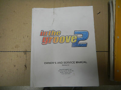 IN THE GROOVE 2  ROXOR    vintage arcade game owners manual