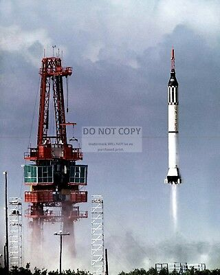 Alan Shepard Launch Of Mercury Astronaut In Freedom 7 - 8X10 Nasa Photo (Bb-082)