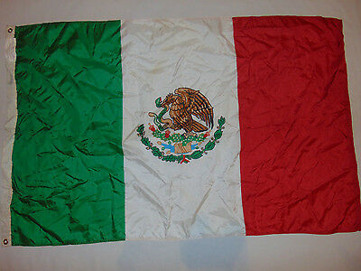 Mexico National Flag 3' X 5' Nylon Banner Country Used
