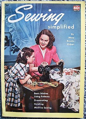 Sewing Simplified Today's Woman Magazine Book Fawcett 107 Mary Picken 1950