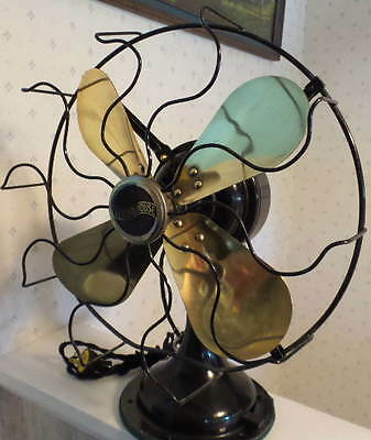 Excellent Westinghouse Model 315745A Oscillating Electric Fan w/ 4 Brass Blades