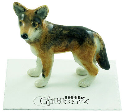 "LC838 - Little Critterz - Red Wolf named ""Cinnamon"" (Buy any 5 get 6th free!)"