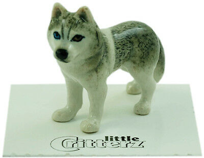 "LC841 - Little Critterz -Siberian Husky  ""Silver"" (Buy any 5 get 6th free!)"