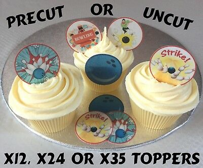 24 BOWLING BALLS  ICE//ICING EDIBLE FAIRY//CUP CAKE//BUNS  TOPPERS