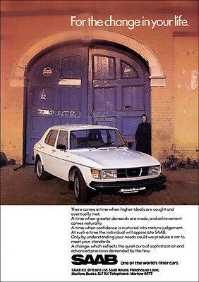 Saab 99 Retro A3 Poster Print From Classic 70's Advert